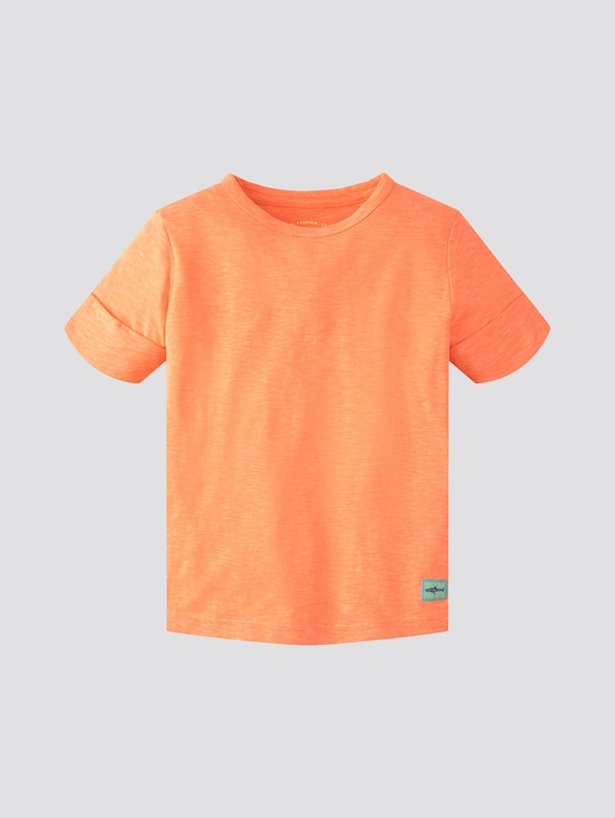 Schlichtes T-Shirt - Jungen - washed out neon orange|orange - 7 - TOM TAILOR