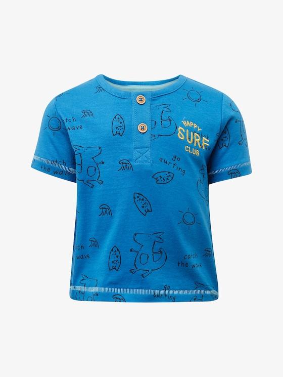 Henley T-Shirt mit Print - Babies - campanula|blue - 7 - TOM TAILOR