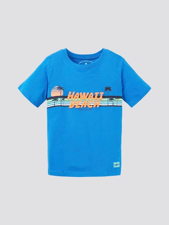 T-Shirt mit Print - Jungen - victory blue|blue - 7 - TOM TAILOR
