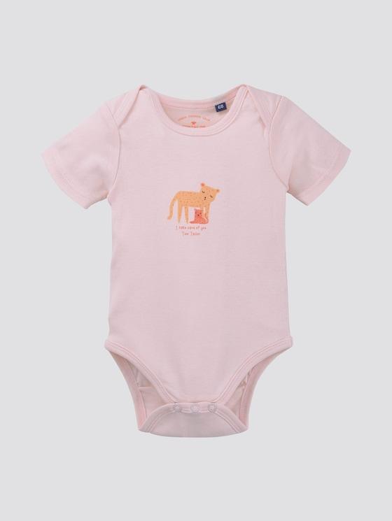 Body met print - Babies - ballet slipper|rose - 7 - TOM TAILOR