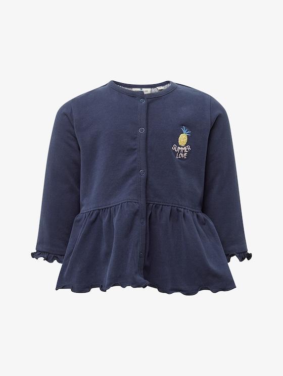 Sweatjacke mit Schößchen - Babies - black iris blue - 7 - TOM TAILOR