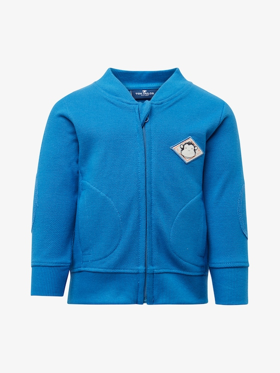 Sweatjacke mit Patch - Babies - campanula|blue - 7 - TOM TAILOR