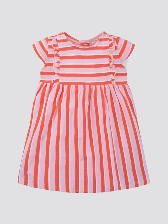 Gestreepte jurk met ruches - Babies - printed stripe|multicolored - 7 - TOM TAILOR