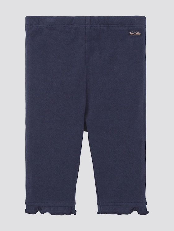 Leggings with ruffles - Babies - black iris|blue - 7 - TOM TAILOR