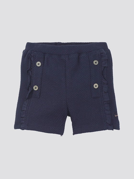 Shorts met textuur - Babies - black iris|blue - 7 - TOM TAILOR