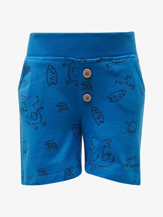 Gemusterte Shorts - Babies - campanula|blue - 7 - TOM TAILOR