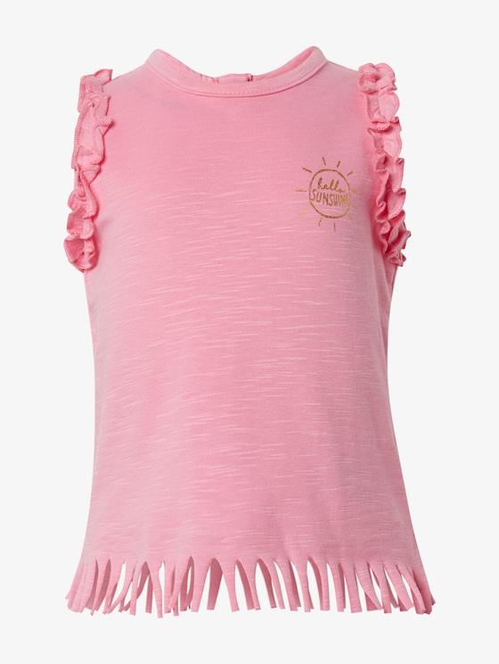 Top mit Rüschen und Fransen - Babies - sachet pink|rose - 7 - TOM TAILOR