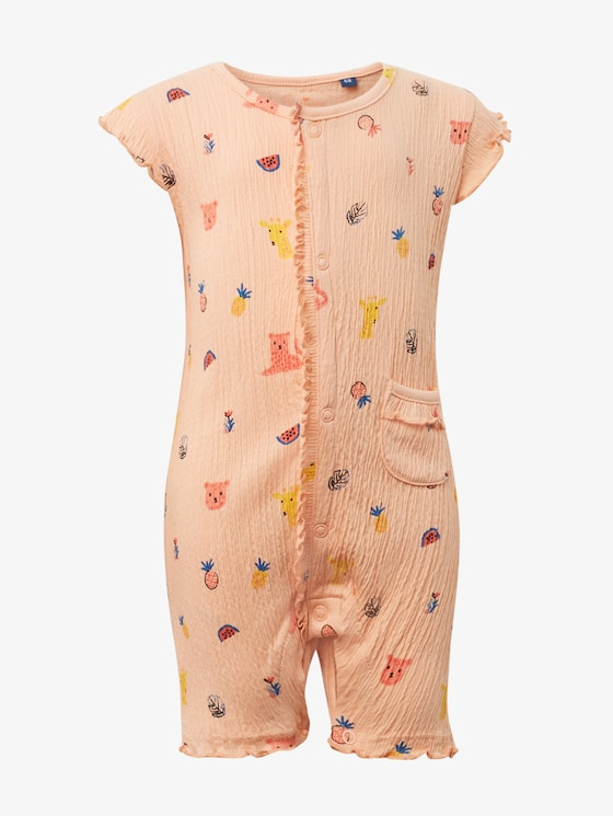 Body met dierenpatroon - Babies - allover|multicolored - 1 - TOM TAILOR