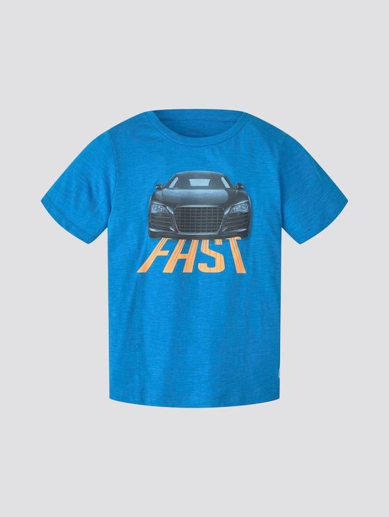 T-shirt with print - Boys - ibiza blue|blue - 7 - TOM TAILOR