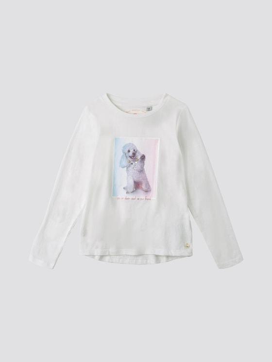Langarmshirt mit Fotoprint - Mädchen - cloud dancer|white - 7 - TOM TAILOR