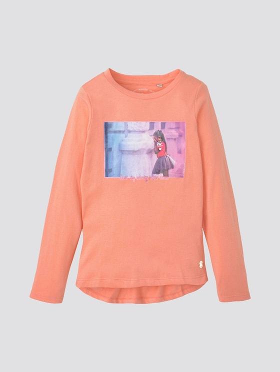 Langarmshirt mit Fotoprint - Mädchen - peach amber|rose - 7 - TOM TAILOR