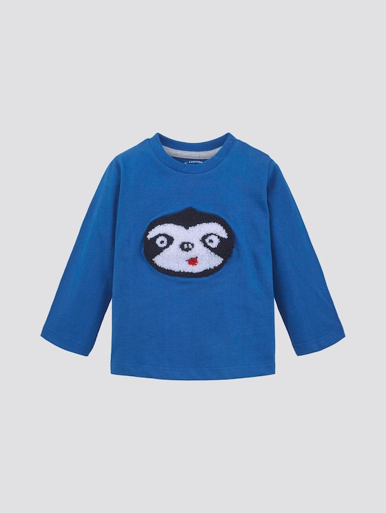 Long-sleeved shirt with print - Babies - turkish sea|blue - 7 - TOM TAILOR