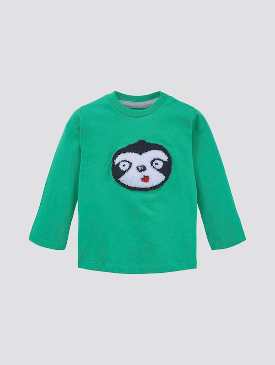 Long-sleeved shirt with print - Babies - simply green|green - 7 - TOM TAILOR