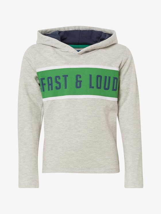 Hoody with print - Boys - original|multicolored - 7 - TOM TAILOR