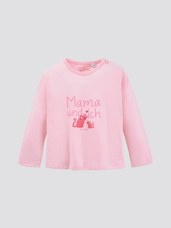 Langarmshirt mit Schrift-Print - Babies - rose shadow|rose - 7 - TOM TAILOR