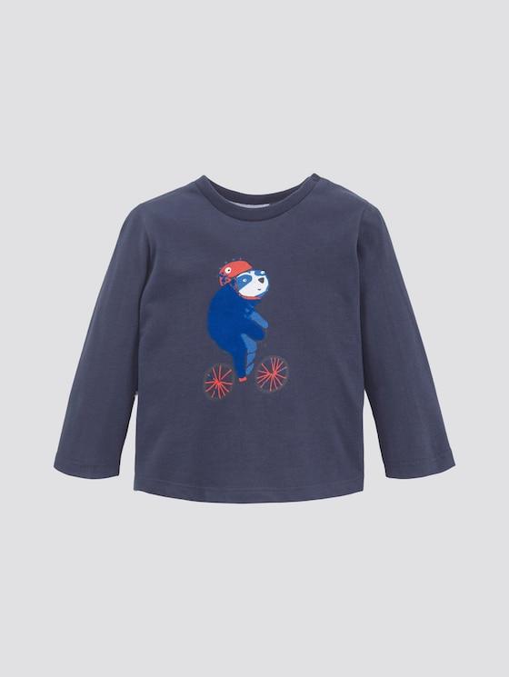 Langarmshirt mit Print - Babies - navy blazer|blue - 7 - TOM TAILOR