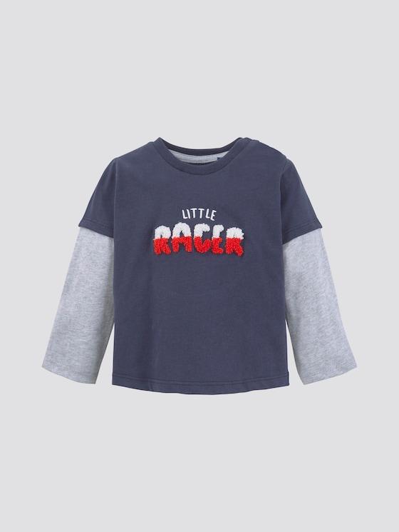 Langarmshirt mit Stickerei - Babies - navy blazer|blue - 7 - TOM TAILOR