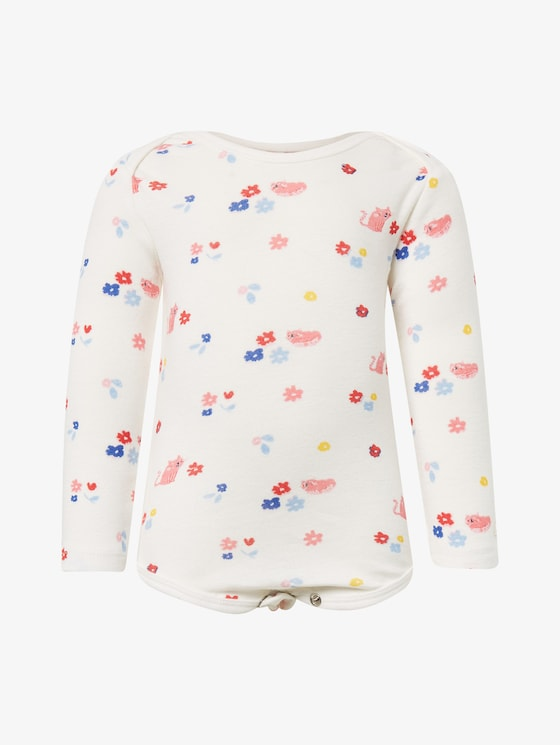Body with all-over print - Babies - cloud dancer|white - 7 - TOM TAILOR