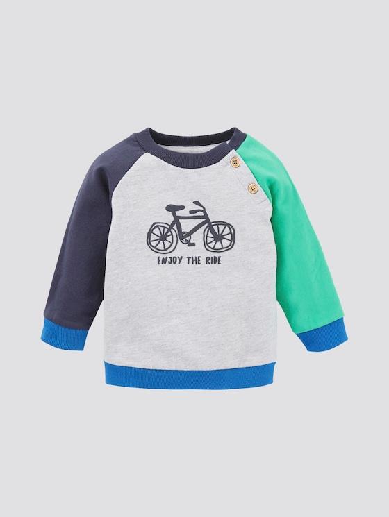 Sweatshirt mit Colorblocking - Babies - vapor blue melange|gray - 7 - TOM TAILOR