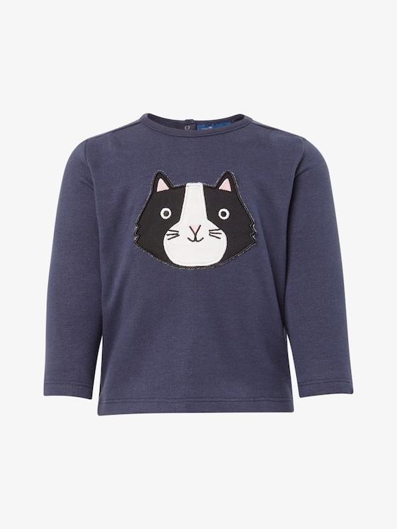 Sweatshirt met print - Babies - black iris|blue - 7 - TOM TAILOR