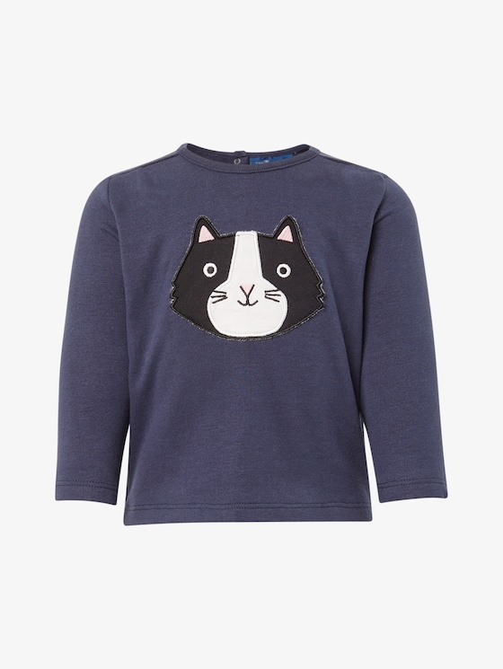 Sweatshirt mit Print - Babies - black iris|blue - 7 - TOM TAILOR