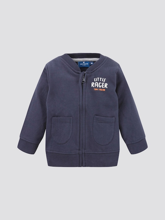 Gestreifte Sweatjacke - Babies - navy blazer blue - 7 - TOM TAILOR