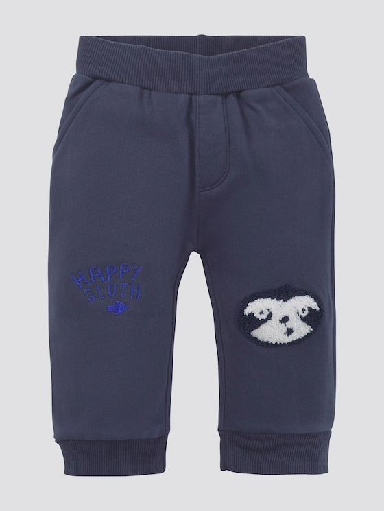 Joggingbroek met motief - Babies - navy blazer|blue - 7 - TOM TAILOR