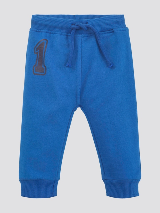 Gestreepte joggingbroek met print - Babies - turkish sea|blue - 7 - TOM TAILOR