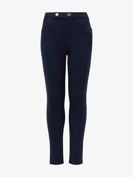 Leggings met knoopsluiting - Meisjes - navy blazer|blue - 7 - TOM TAILOR
