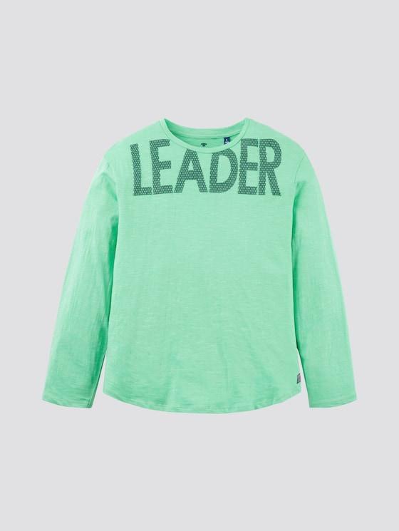 Langarmshirt mit Print - Jungen - irish green|green - 7 - TOM TAILOR