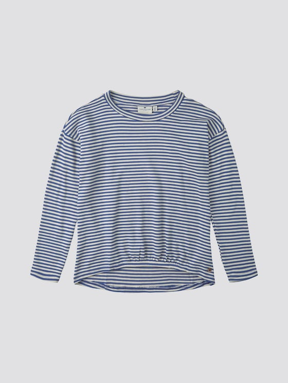 Weiches Langarmshirt mit Streifen - Mädchen - deep ultramarine|blue - 7 - TOM TAILOR