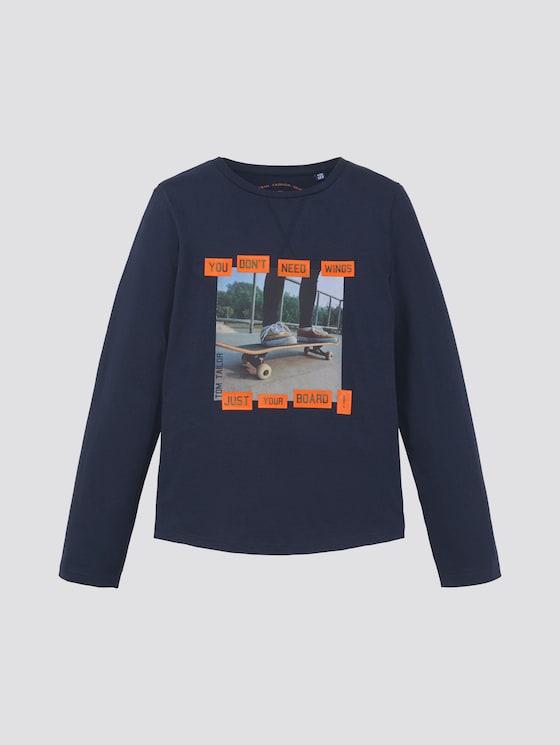 Lange mouwen shirt met fotoprint - Jongens - dress blue|blue - 7 - TOM TAILOR