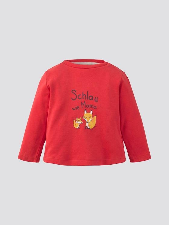 Langarmshirt mit Print - Babies - high risk red|red - 7 - Tom Tailor E-Shop Kollektion