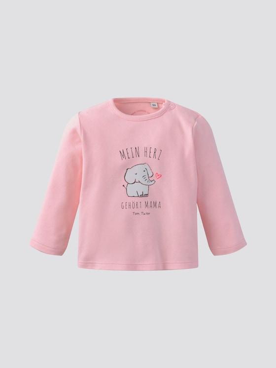 Langarmshirt mit Schrift-Print - Babies - rose shadow|rose - 7 - Tom Tailor E-Shop Kollektion
