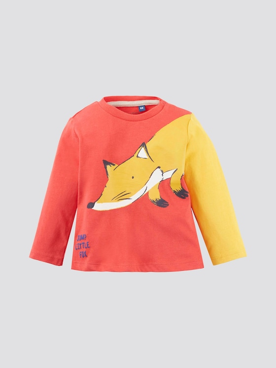 Langarmshirt mit Tier-Print - Babies - high risk red|red - 7 - Tom Tailor E-Shop Kollektion
