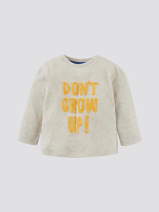 Langarmshirt mit Artwork - Babies - lunar rock melange|beige - 7 - Tom Tailor E-Shop Kollektion