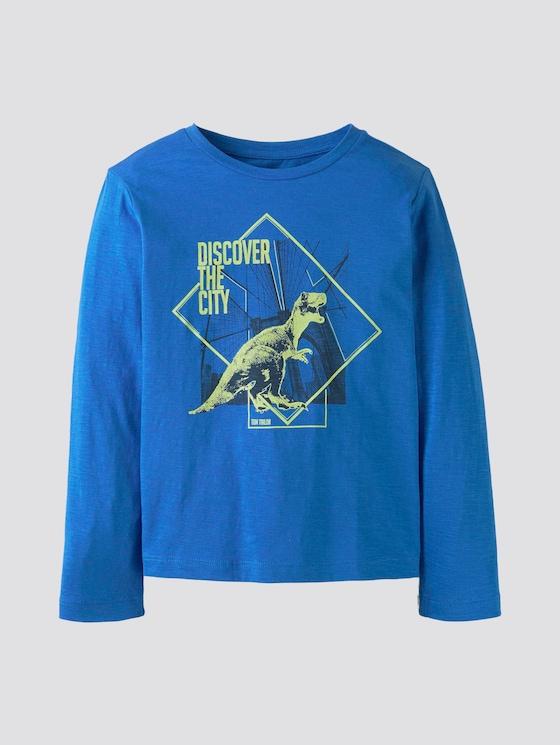 Langarmshirt mit Print - Jungen - strong blue|blue - 7 - TOM TAILOR