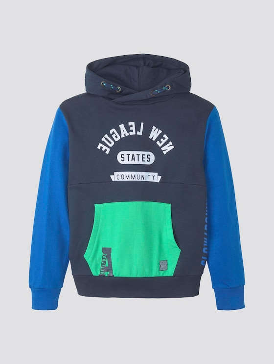 Patchwork Hoodie - Jungen - dress blue|blue - 7 - Tom Tailor E-Shop Kollektion