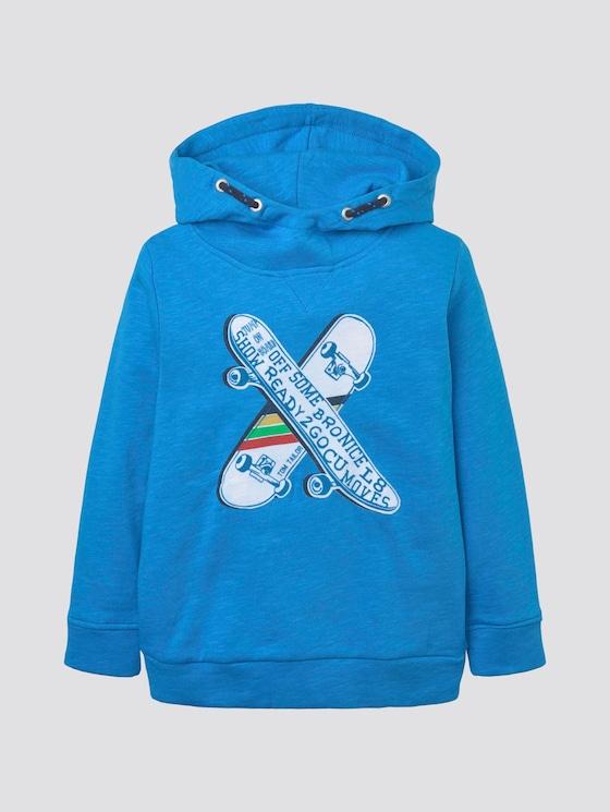 Sportlicher Hoodie mit Print - Jungen - ibiza blue|blue - 7 - TOM TAILOR