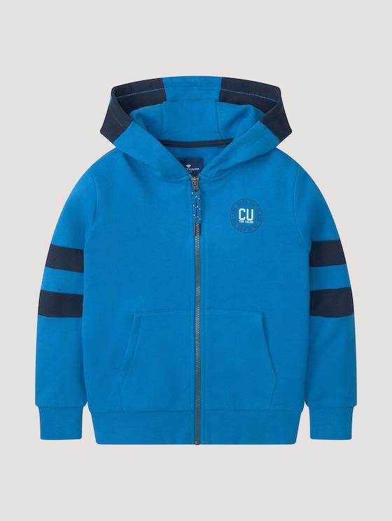 Jacket with stripes - Boys - ibiza blue|blue - 7 - TOM TAILOR