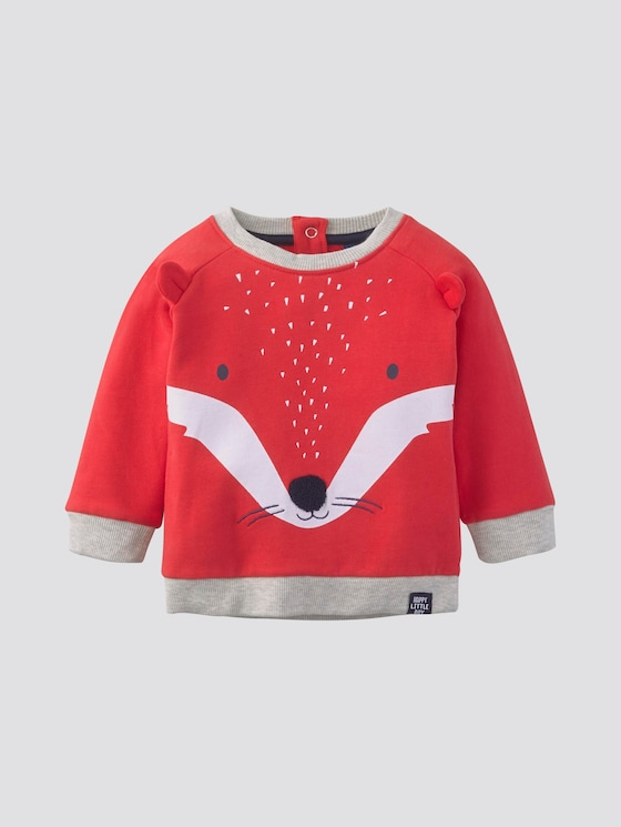 Sweatshirt mit Tier-Print - Babies - high risk red|red - 7 - Tom Tailor E-Shop Kollektion