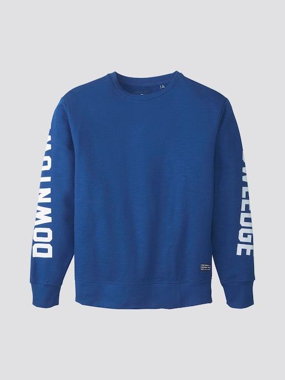Sweatshirt mit Schrift-Print - Jungen - monaco blue|blue - 7 - TOM TAILOR