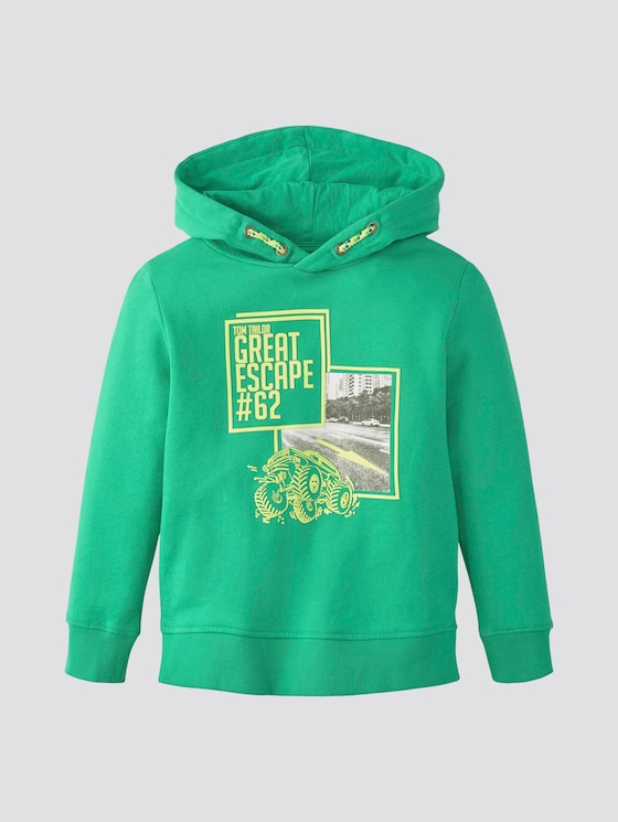 Hoodie mit Print - Jungen - holly green|green - 7 - TOM TAILOR