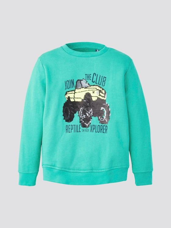 Sweatshirt mit Print - Jungen - holly green|green - 7 - TOM TAILOR