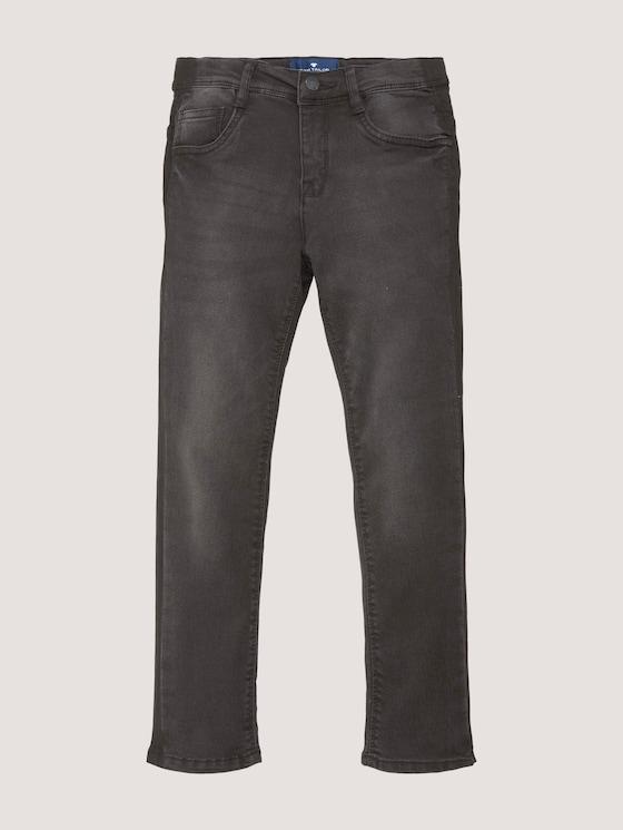 Tim Slim Jeans mit Tape-Detail - Jungen - black denim black - 7 - TOM TAILOR