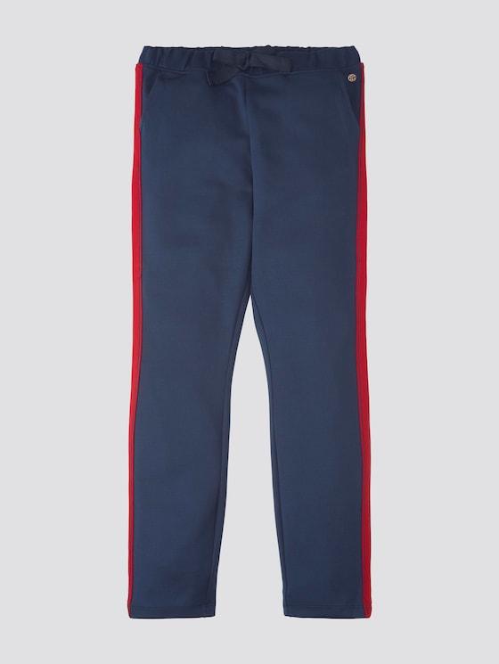 Hose mit seitlichen Streifen - Mädchen - dress blue|blue - 7 - TOM TAILOR