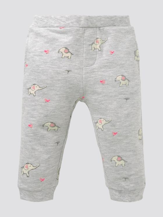 Gemusterte Jogginghose - Babies - lunar rock melange|beige - 7 - Tom Tailor E-Shop Kollektion