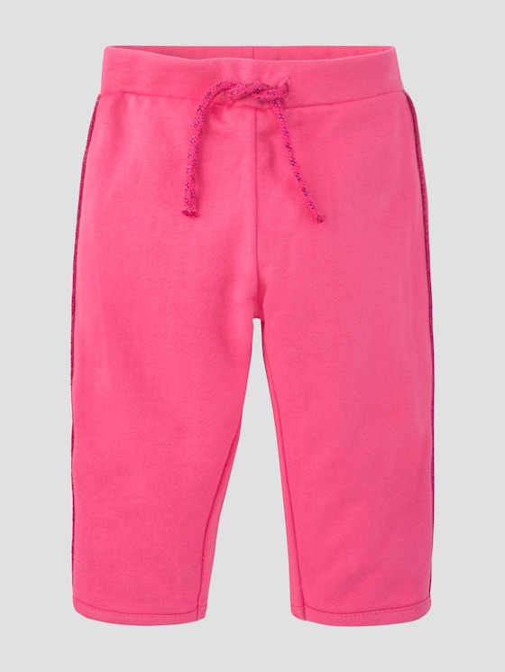 Jogginghose mit Glitzer-Streifen - Babies - fandango pink|pink - 7 - Tom Tailor E-Shop Kollektion