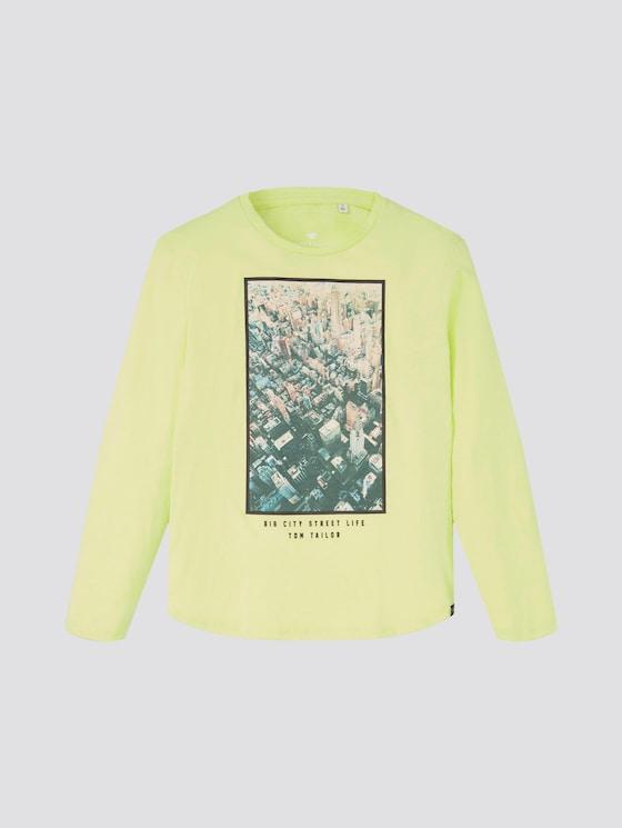 Langarmshirt mit Print - Jungen - light sharp green green - 7 - TOM TAILOR