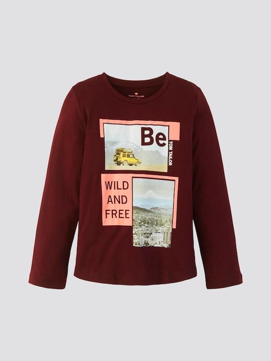 Langarmshirt mit Foto-Print - Jungen - new bordeaux|red - 7 - TOM TAILOR